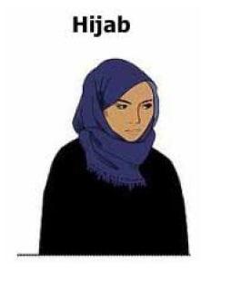 Un voile islamique